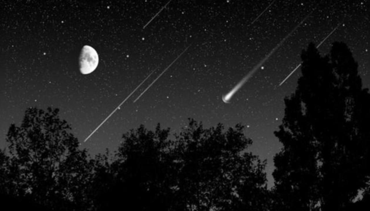 Vea la lluvia de estrellas