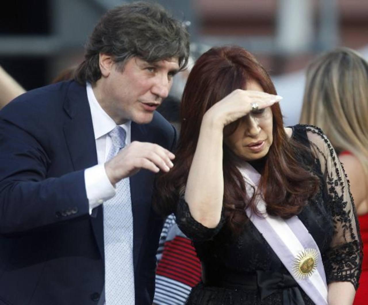 Amado Boudou junto a Cristina Fernández, presidenta de Argentina. edh / Archivo