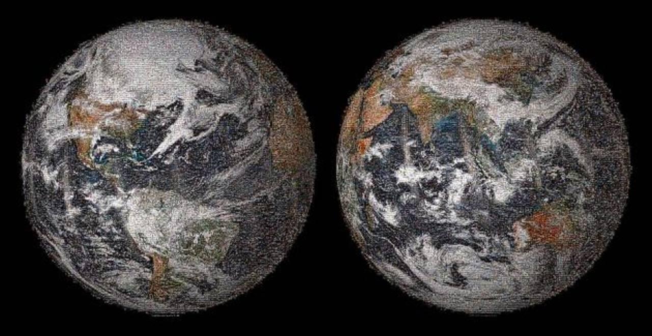 """La NASA divulga un """"selfie"""" de la Tierra y los humanos"""
