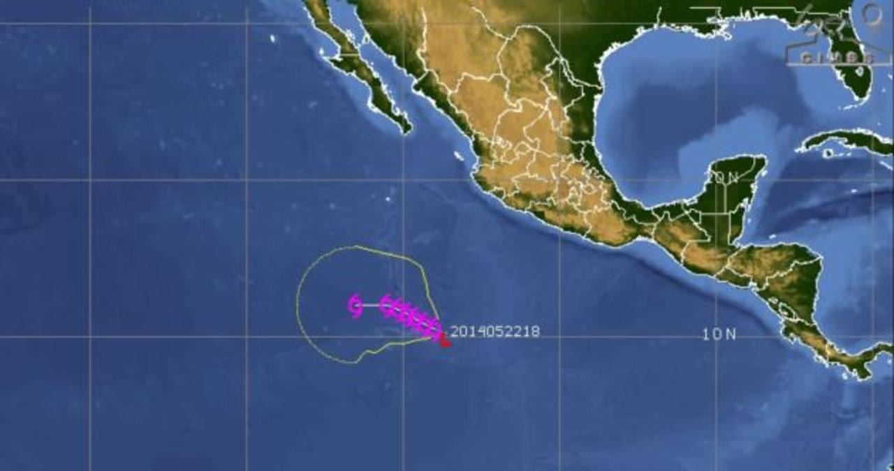 La depresión tropical se localiza a mil veinte kilómetros al sur-suroeste de Manzanillo, en México. foto edh / Internet