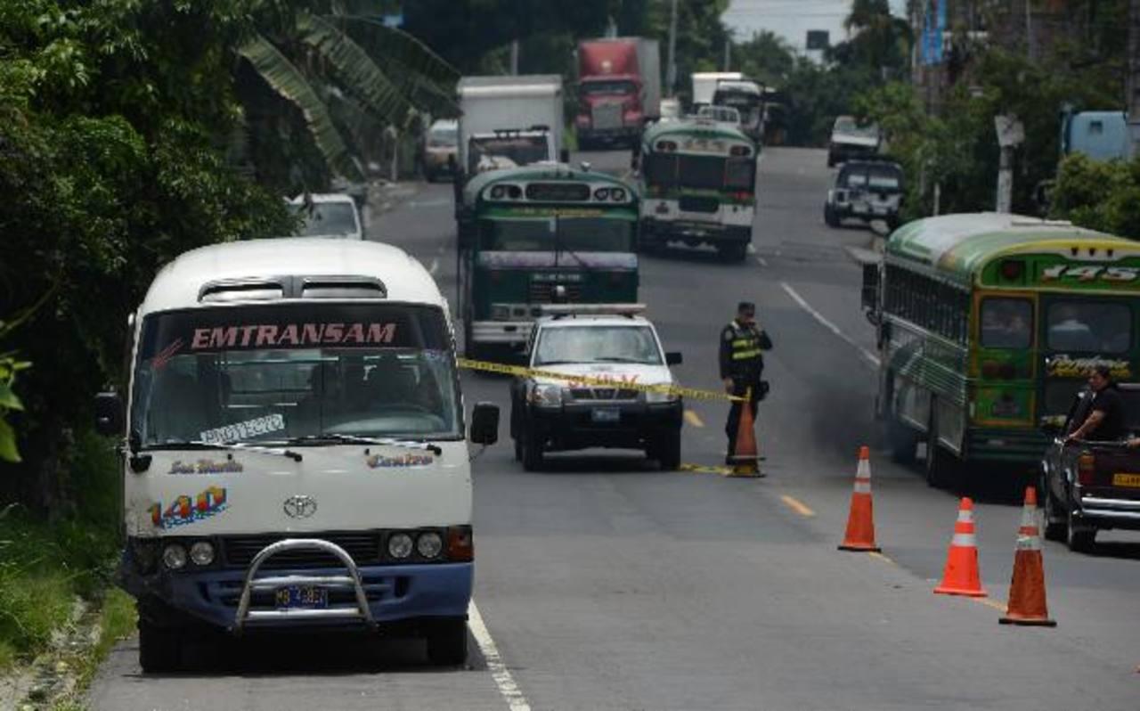 Motorista de la Ruta 140, Juan José González, de 38 años, fue asesinado ayer en Ilopango. Foto EDH /Jaime López