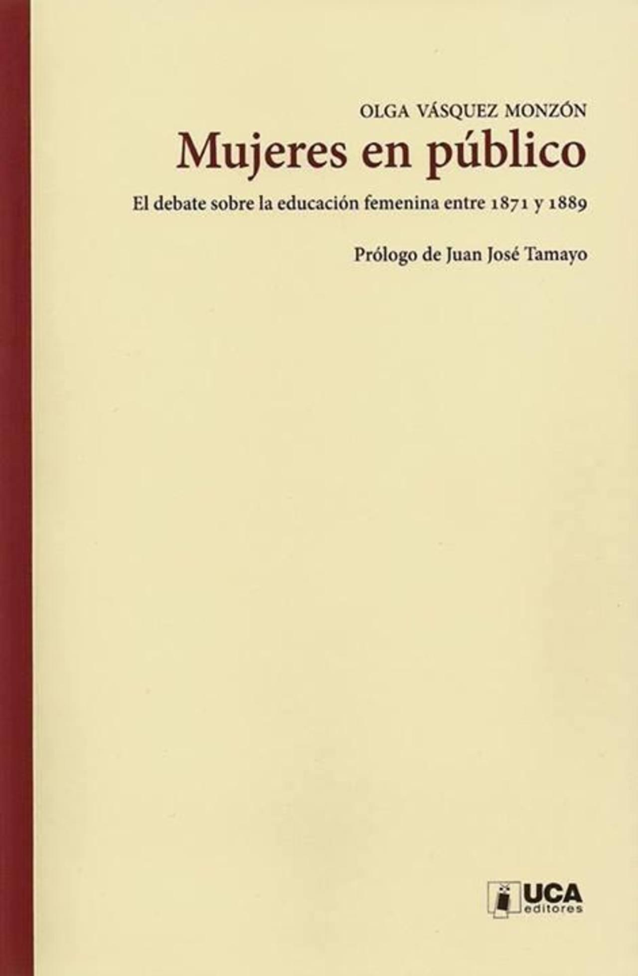 Olga Vásquez Monzón presenta libro sobre educación femenina en la UCA