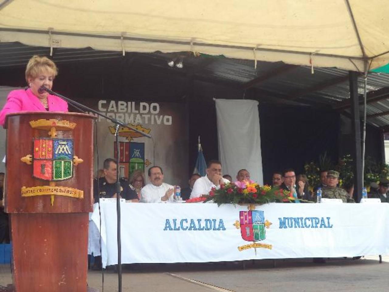 De acuerdo a la alcaldesa Guadalupe Serrano, se espera replicar el modelo en otras comunidades. foto edh / cortesía
