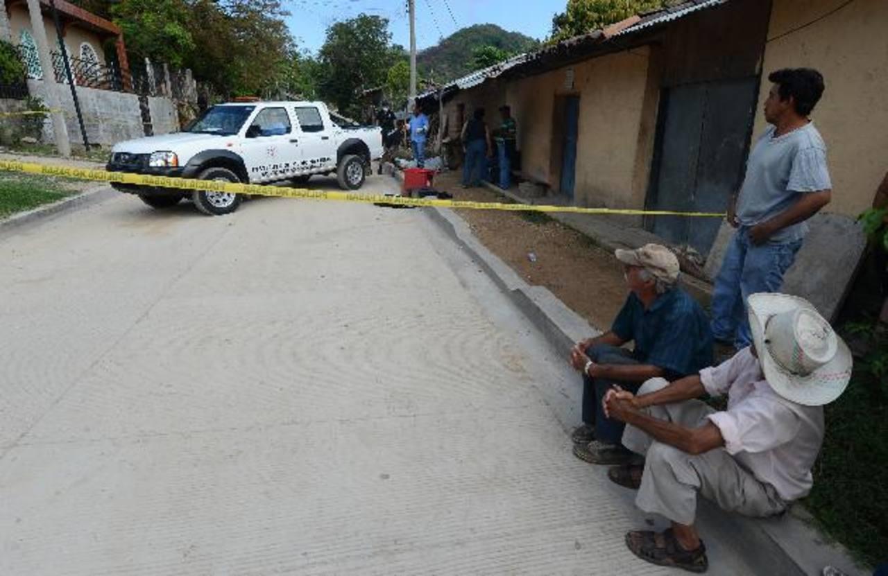En Nueva Concepción, Chalatenango, fueron asesinados los hermanos Juan Carlos y Pedro Miguel Sosa. Foto EDH / Lissette Monterrosa