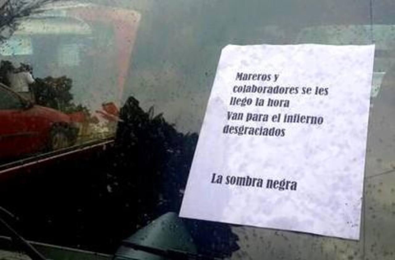 """Aparecen mensajes de la """"sombra negra"""" en Ciudad Delgado"""