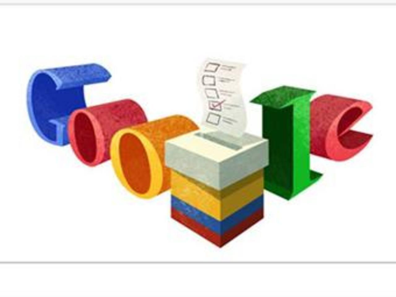 """Google dedica su """"doodle"""" a las elecciones colombianas"""