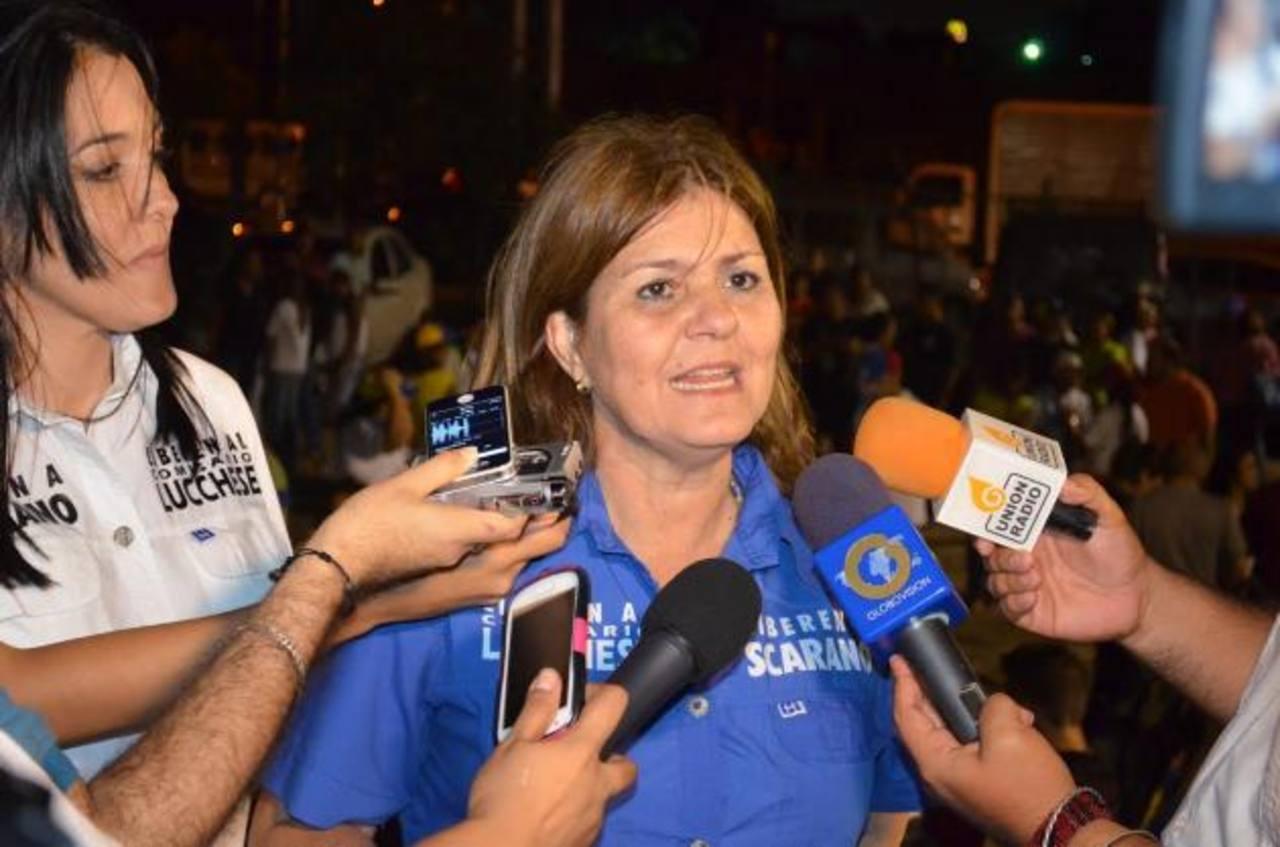 Rosa Brandonisio, ganó la alcaldía de San Diego, en las elecciones celebradas ayer en Venezuela