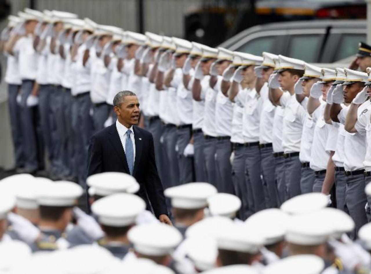 El presidente Barack Obama hizo el anuncio ayer durante la ceremonia de graduación en la Academia Militar en West Point, Nueva York, Estados Unidos. foto edh /AP
