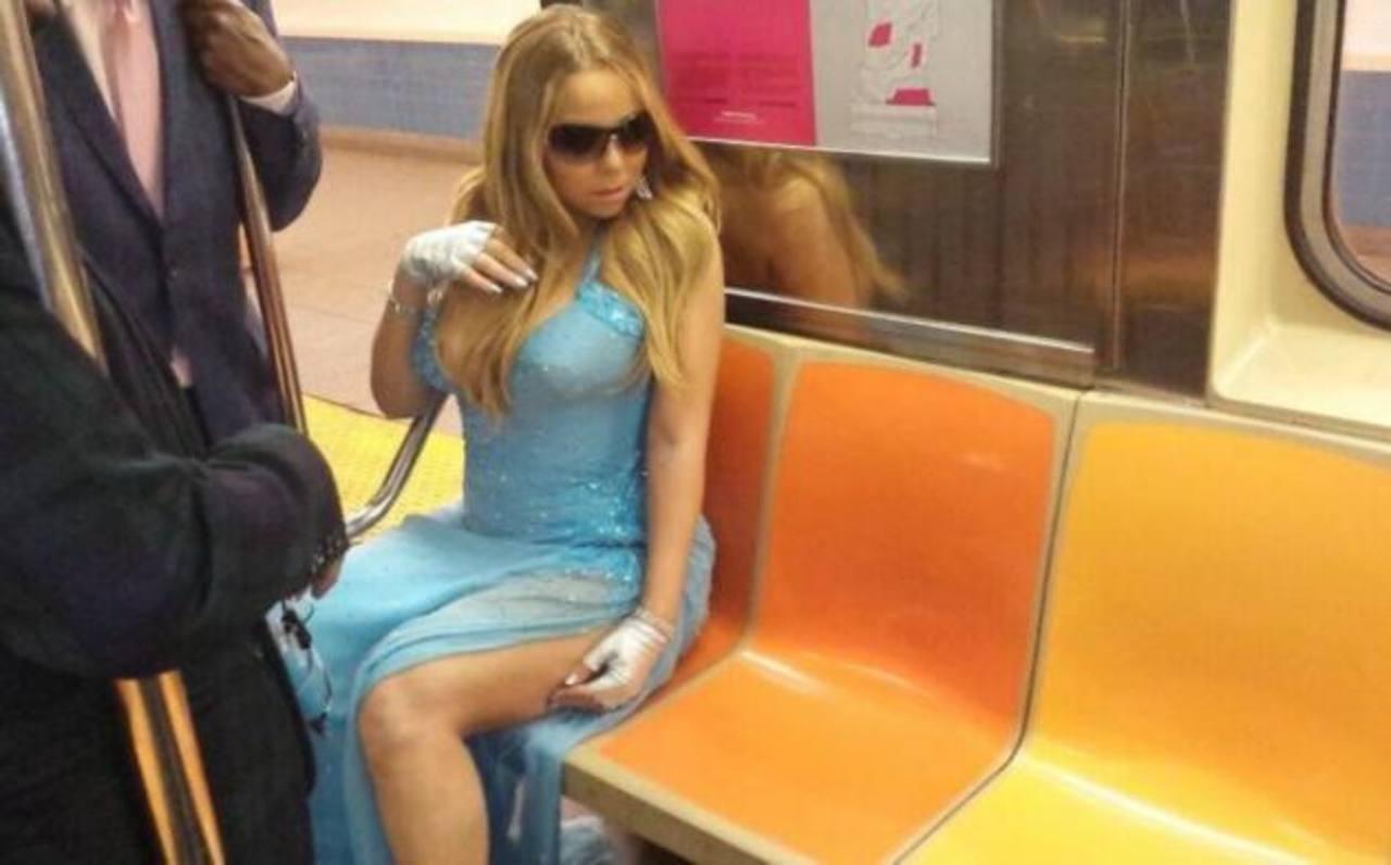 ¿Qué hacía Mariah Carey en el metro de Nueva York?