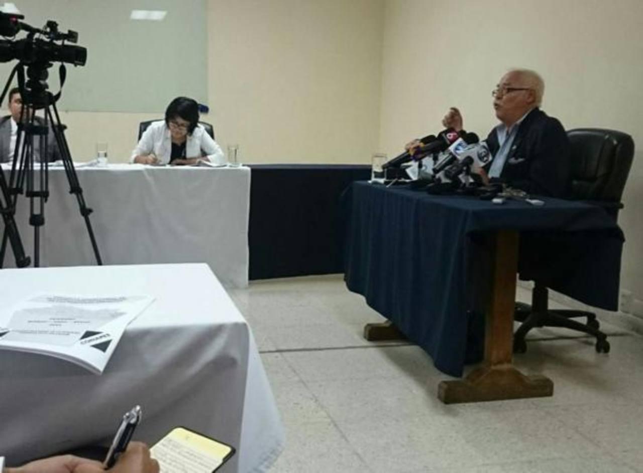 Ernesto Vilanova, presidente de Conapes, reveló los datos ayer en conferencia ayer.