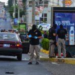 Escena de asalto en la murió Róger Díaz Alarcón