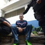 David Armando Turcios, capturado ayer como sospechoso de asesinar a varios vigilantes privados. Foto EDH /RENÉ QUINTANILLA.