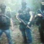 Esta fotografía sobre entrenamiento militar de maras la mostró el Fiscal General en televisión.