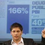 El ministro de Economía de Argentina, Axel Kicillof, dice que el país podría afrontar un nuevo 'default'.