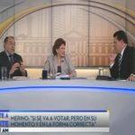 Francisco Merino y Mariella Peña Pinto junto a Moisés Urbina en la entrevista Frente a Frente.