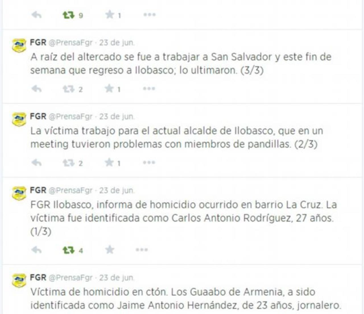 Según la Fiscalía, Rodríguez Escobar, cuando fue baleado, era empleado del alcalde de Ilobasco.
