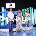 Pepe y Martha Barahona junto a Marcela Santamaría, presentadores del programa musical Play. foto EDH/cortesía