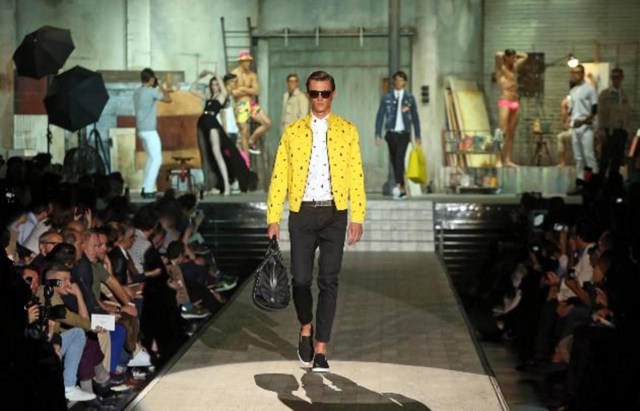 Colores ácidos y estampados en la moda de Milán