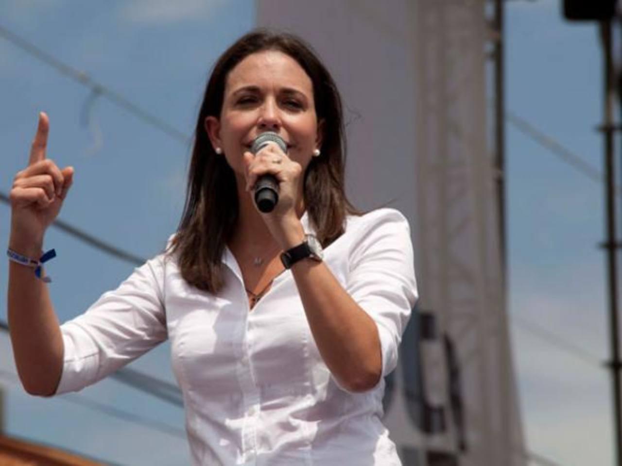 La líder del movimiento político Vente Venezuela, María Corina Machado.