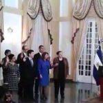 La juramentación fue en Casa Presidencial.