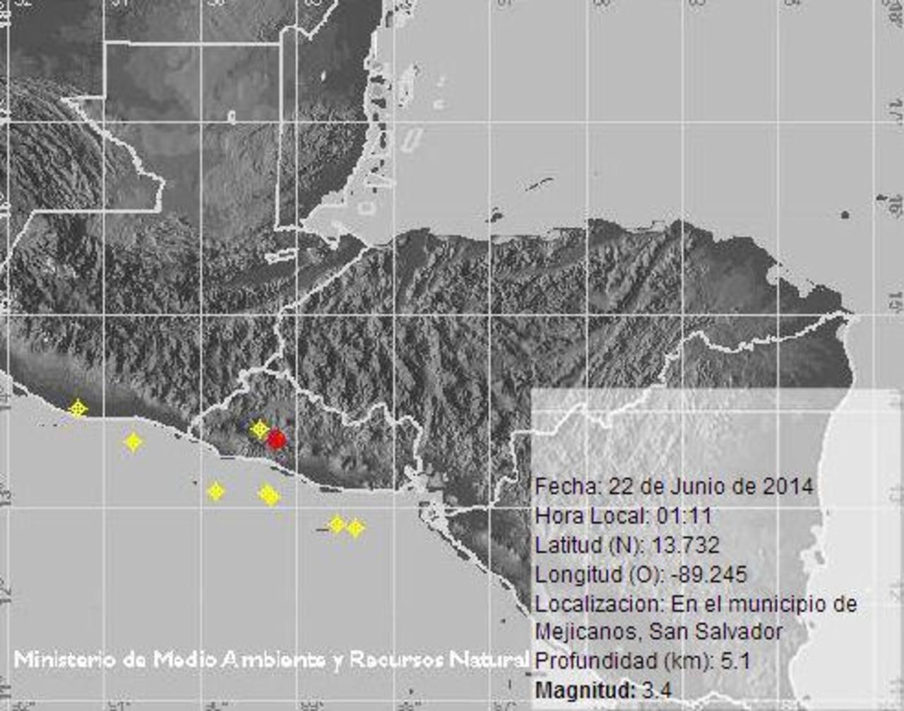 Dos sismos de magnitudes 4.6 y 3.4 sacuden gran parte del territorio salvadoreño