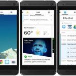 La compañía busca dar un aspecto y una distribución más sencillos y simples en la pantalla de los móviles.