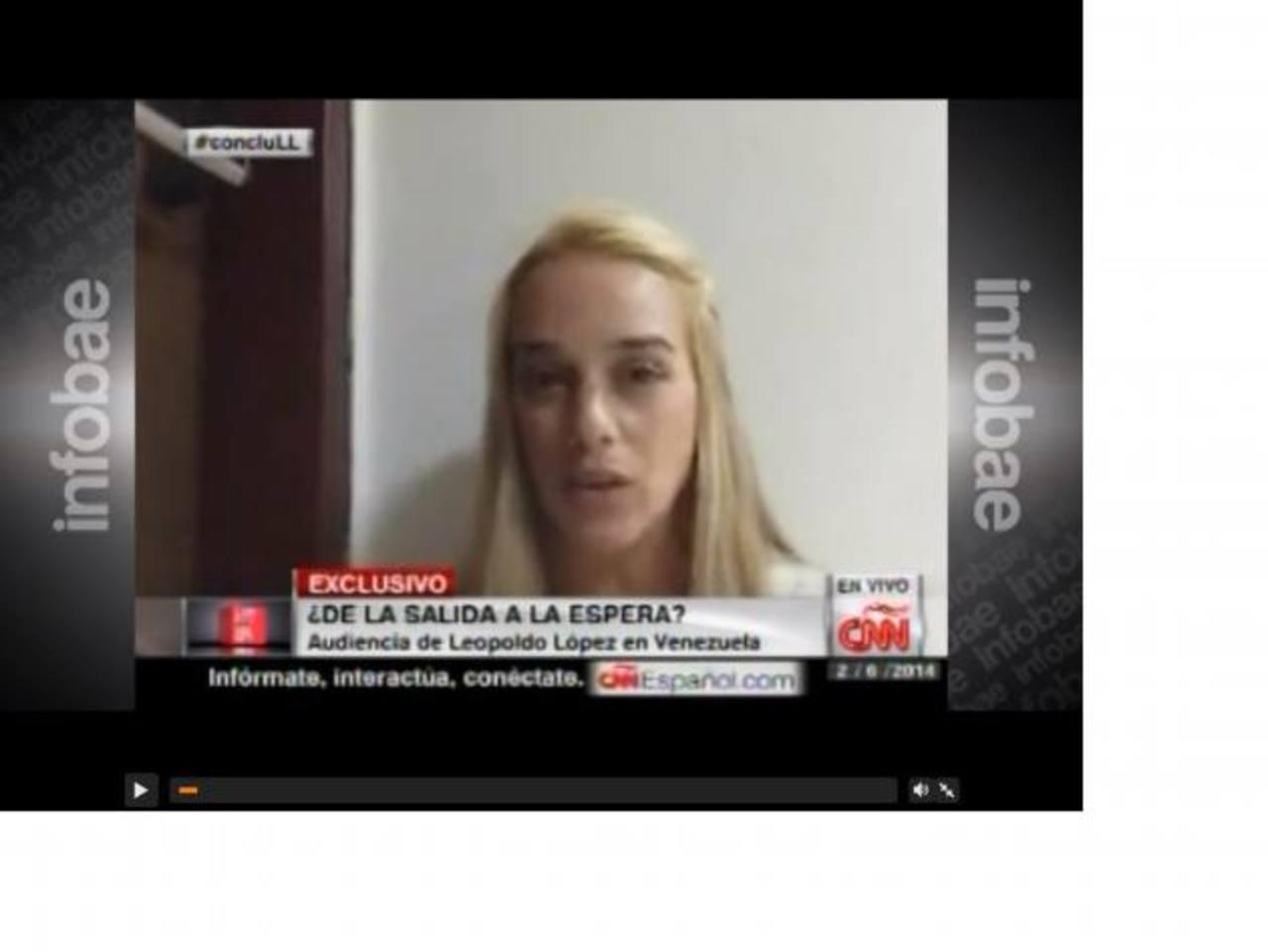 Lilian Tintori, esposa de Leopoldo López. foto edh / tomado de cnn