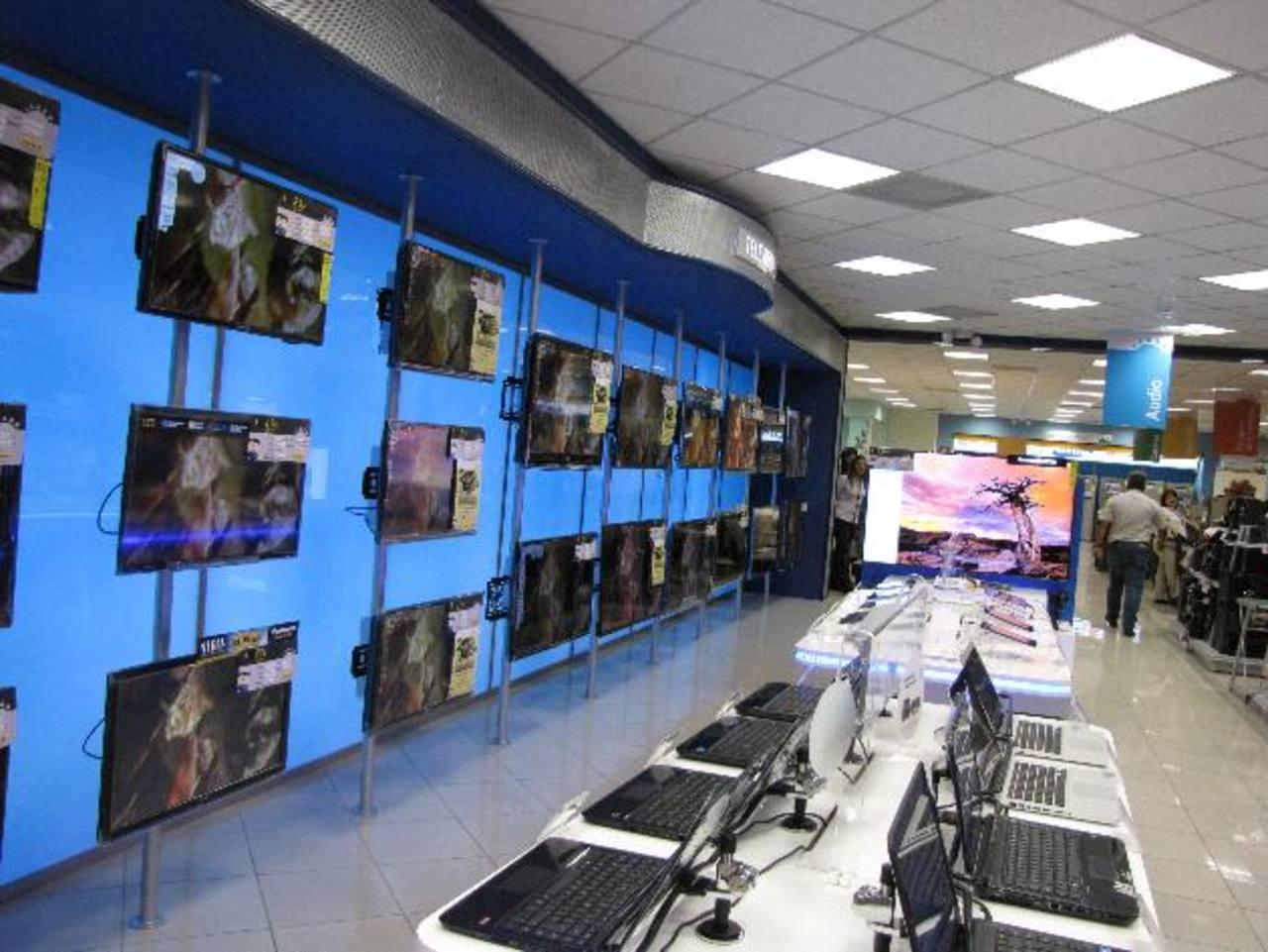 Las promociones para adquirir pantallas de las diversas marcas están disponibles en las 37 sucursales. foto edh / cortesía