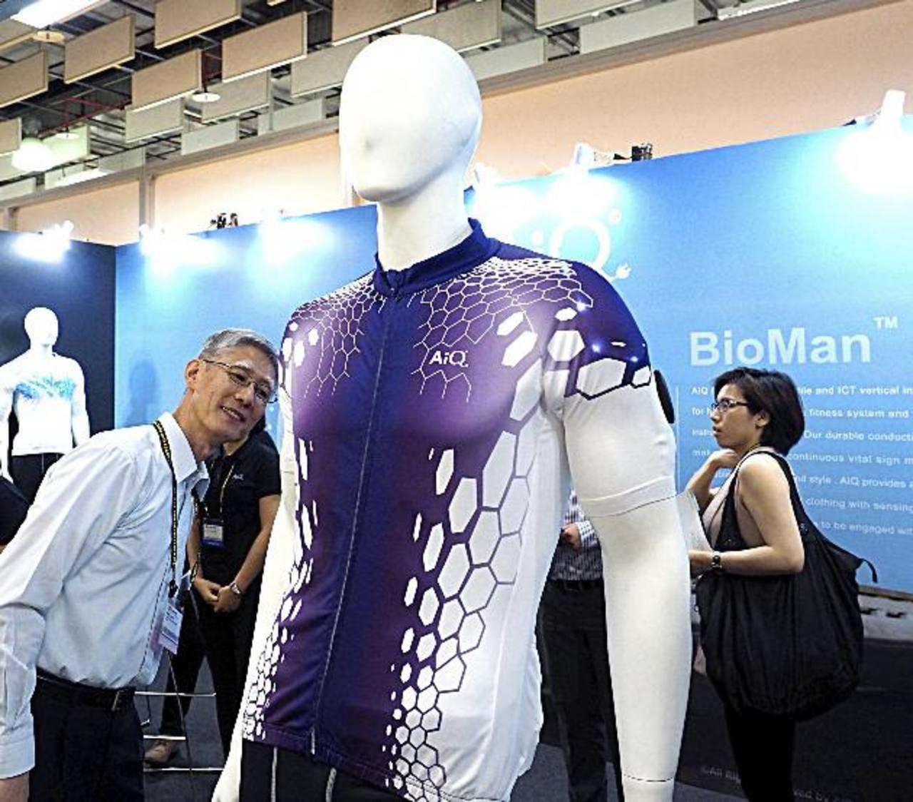 Camisa inteligente desarrollada por la empresa taiwanesa AiuQ Smart Clothing Inc. foto edh