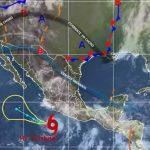 Trayecto del huracán Cristina ayer sobre el océano Pacífico. foto edh / Internet