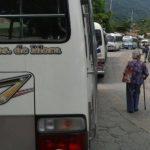 Empleados de la ruta 17 de Panchimalco en paro de labores