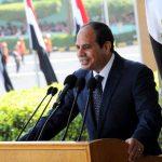 El presidente de Egipto, Abdelfatah al Sisi ofreciendo un discurso durante una ceremonia de graduación militar en El Cairo.