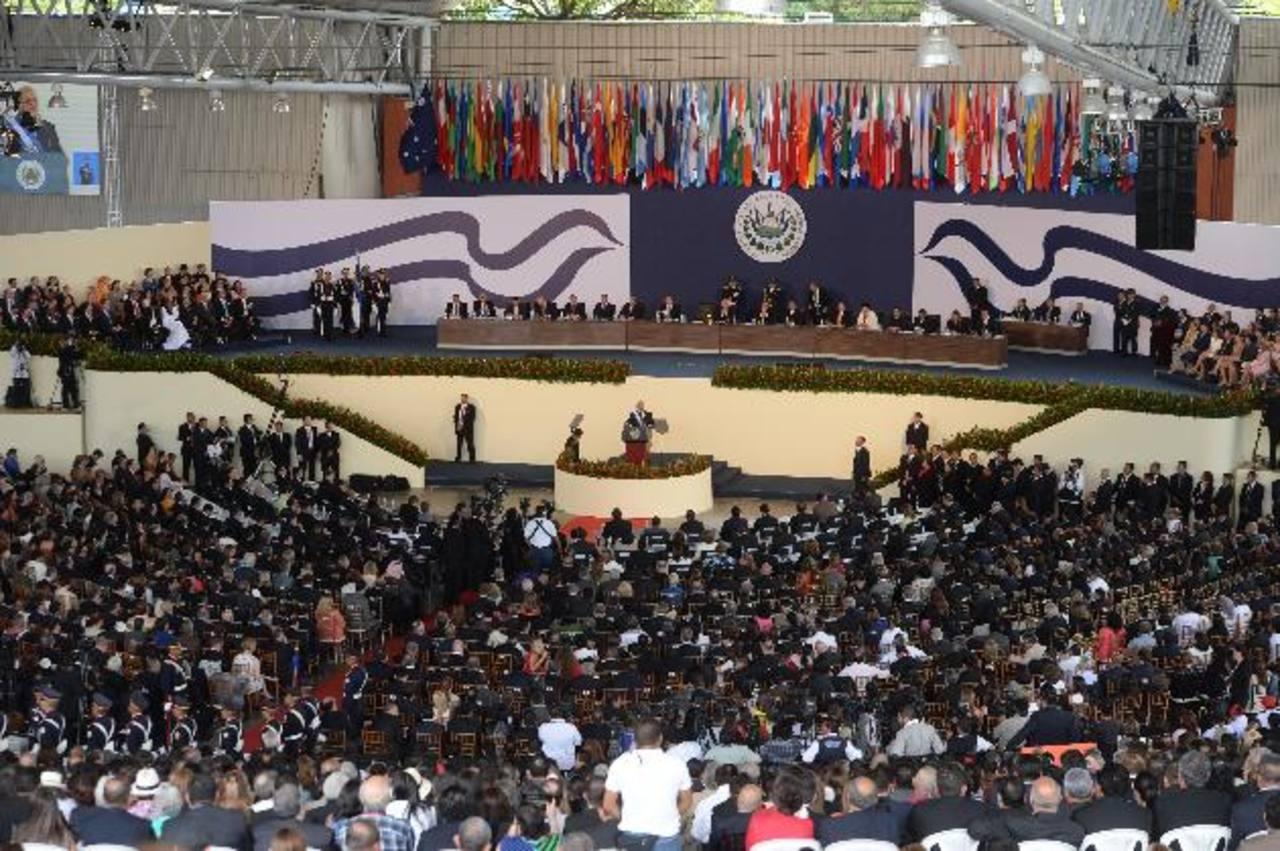A la juramentación de Sánchez Cerén asistieron los nuevos miembros de su gabinete de Seguridad. Foto EDH / M. Hernández