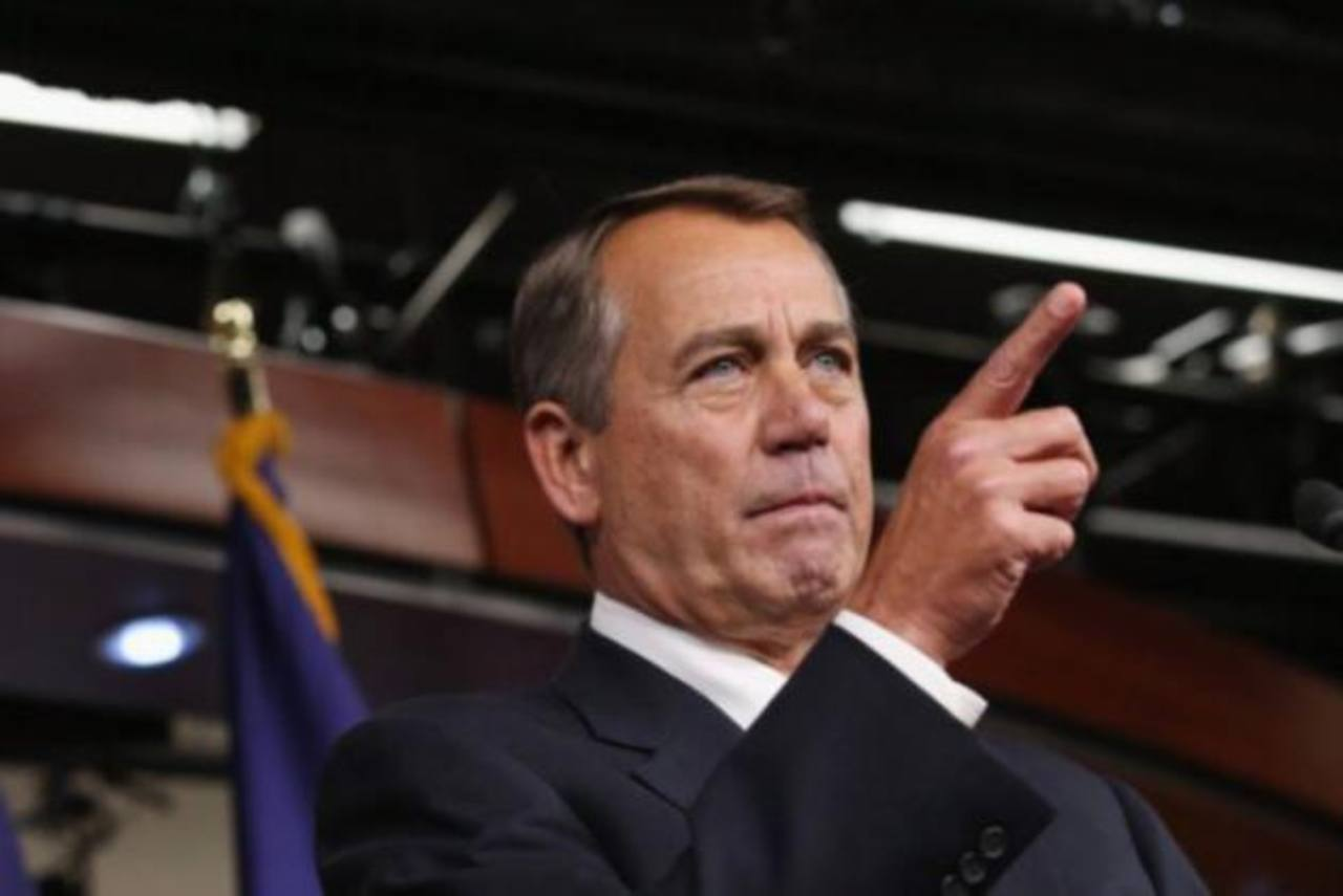 El líder de la Cámara de Representantes, el republicano John Boehner (d), demandará al presidente estadounidense Barack Obama por abuso de poder. foto edh / archivo