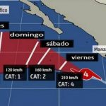 El huracán Cristina gana fuerza y se aleja de México