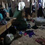 Lugar donde fueron atacados los cuatro miembros de la familia