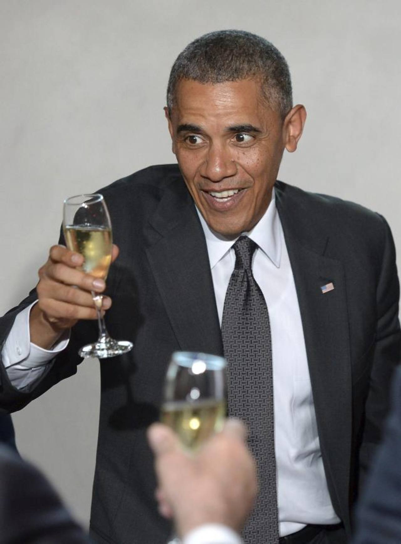 El presidente de EE. UU. Barack Obama, en el palacio presidencial en Varsovia.