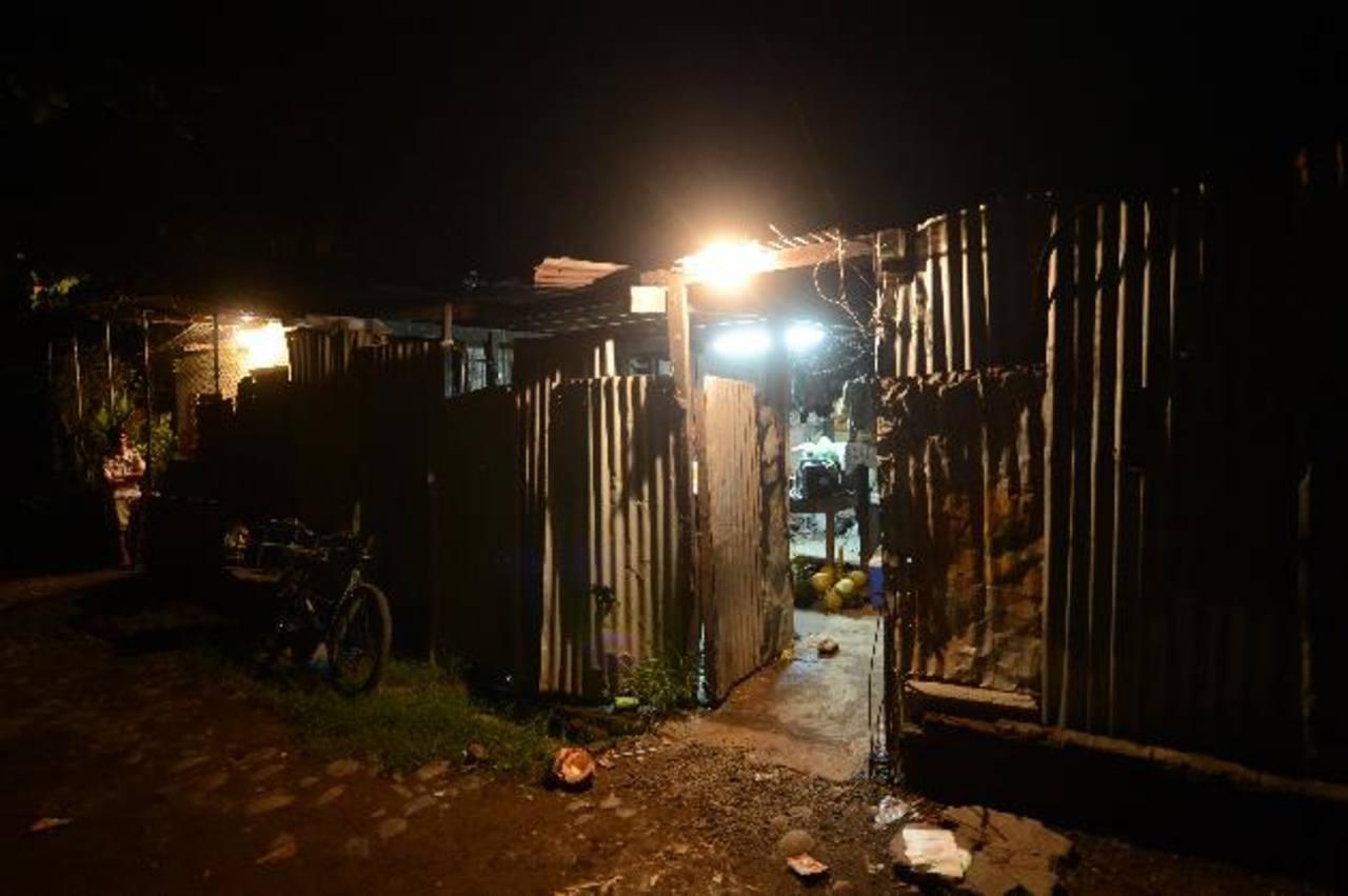 Casa donde vivía Valeria y donde se refugió un pandillero que también fue asesinado el miércoles. foto edh /jaime anaya