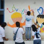 Para Citi Bank El Salvador, el día Global de la Comunidad en una verdadera fiesta en la que los empleados también involucran a sus pequeños en las actividades. foto edh / Douglas Urquilla