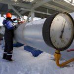 Estación de medición de gas en consorcio rusoGazprom, a 200 metros de Ucrania.