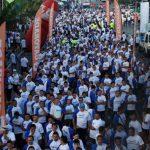 Salvadoreños participaron en maratón contra las drogas