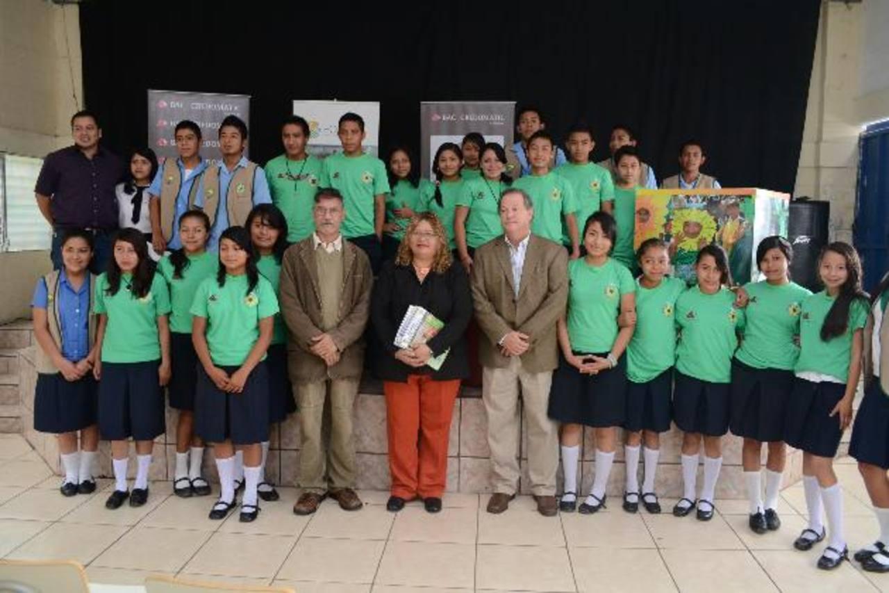 El Programa Guardianes Ambientales, crea conciencia en los estudiantes. Foto EDH/ d. Rezzio