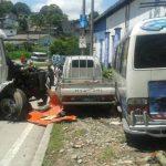 Cinco vehículos involucrados en el accidente.