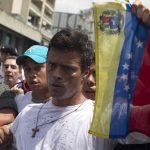 Leopoldo López en los tribunales en Venezuela