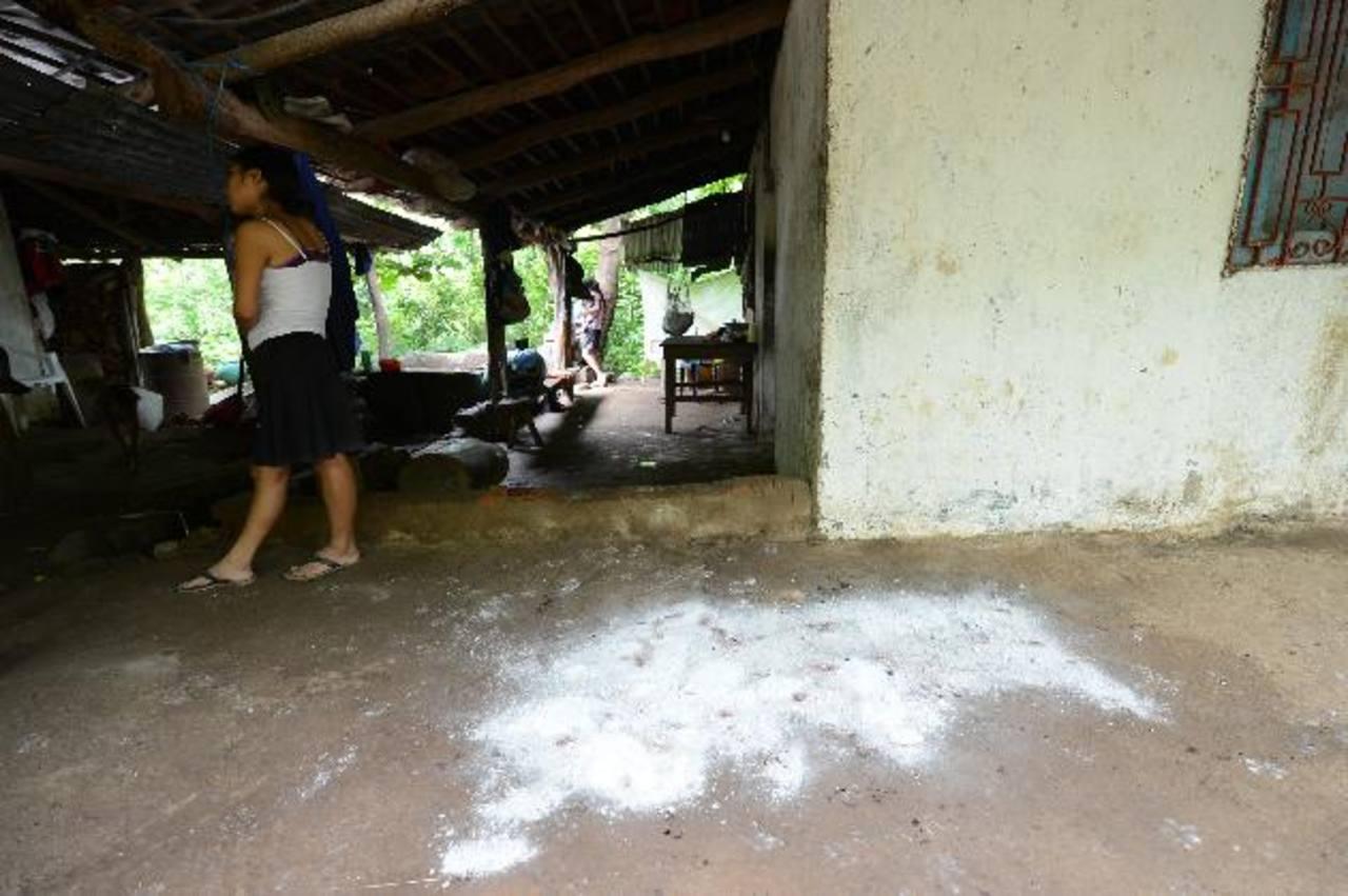 En esta vivienda se registró el ataque contra la familia en Panchimalco. Foto EDH / Douglas Urquilla.
