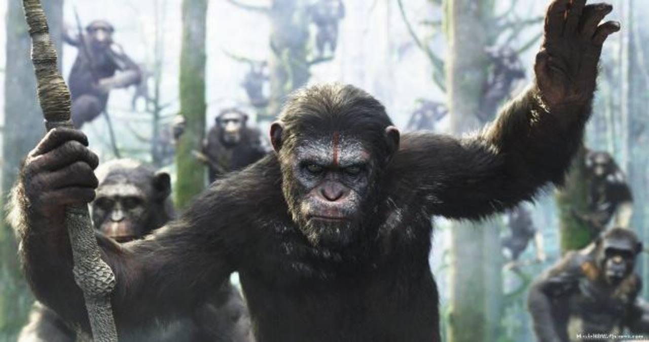 """Guerra total entre monos y humanos en el """"Amanecer del planeta de los simios"""""""