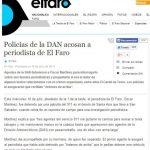 El periódico digital El Faro denunció que uno de sus periodistas fue retenido sin aparente razón, por policías en Santa Ana.