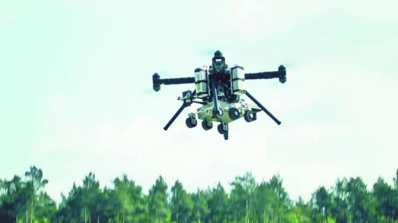 El prototipo de drone ayudará a aterrizar en la superficie marciana a los robots.