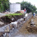 La comunidad del cantón El Canelo, en Nahuizalco, Sonsonate, puso la mano de obra no calificada. Recibieron el apoyo de la Embajada de Japón y la alcaldía de la localidad. Foto EDH