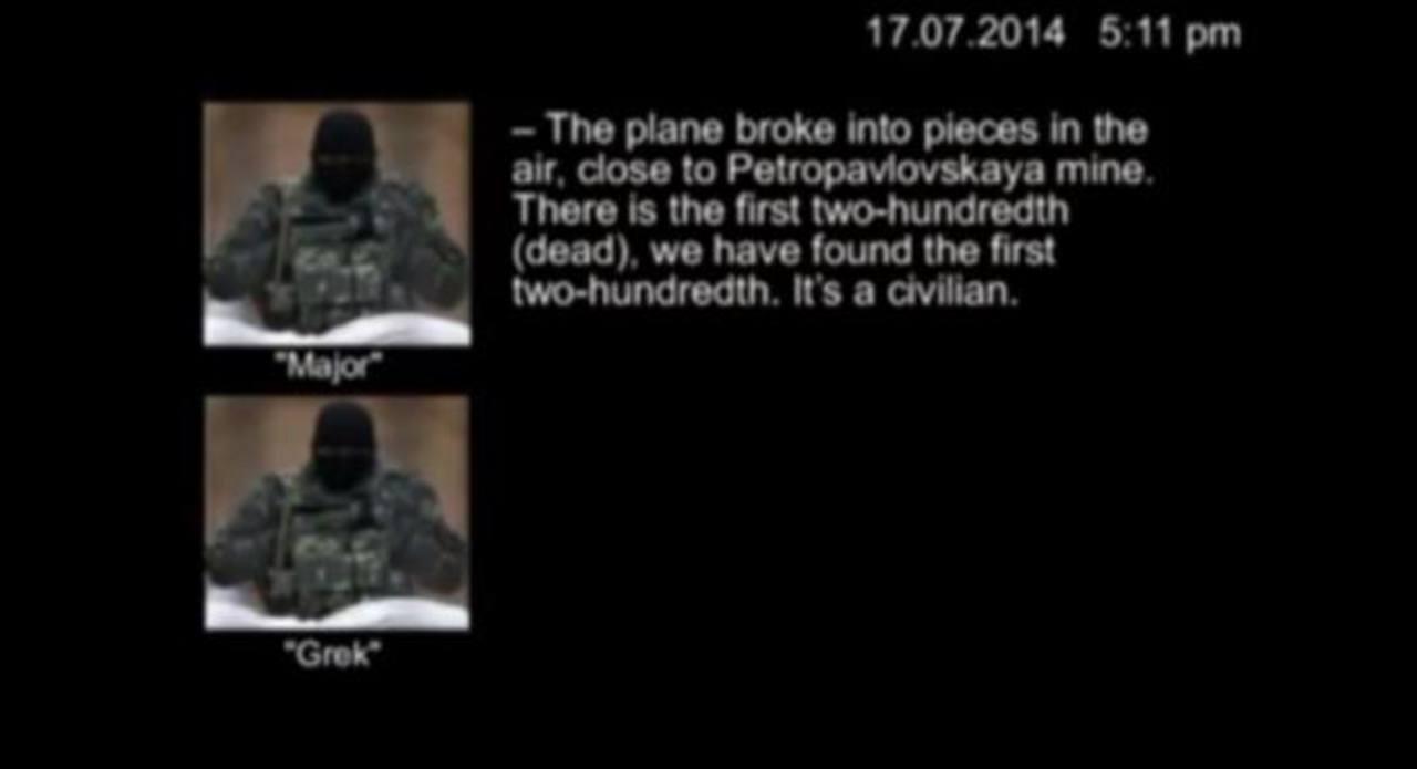 Conversación telefónica apunta a que avión de Malaysia Airlines fue derribado